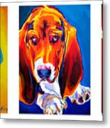 Basset Trio Metal Print by Alicia VanNoy Call