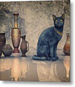 Bastet And Pottery Metal Print