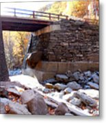 Bastion Falls Bridge 4 Metal Print