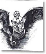 Bat Mobile Metal Print