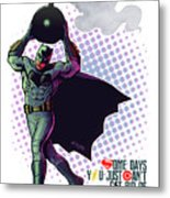 Batfleck And The Bomb 2 Metal Print