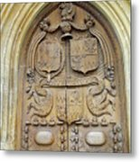 Bath Abbey Door Metal Print