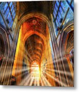 Bath Abbey Sun Rays Metal Print