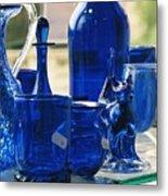 Bath Glass Metal Print