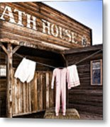 Bath House In Old Tucson Metal Print