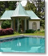 Chanticleer Bath House A Metal Print