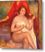 Bather And Maid The Toilet Metal Print