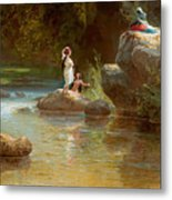 Bathers At The River. Evening In Orinoco? Metal Print