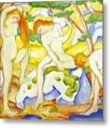 Bathing Girls 1910 Metal Print