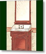 Bathroom Picture Wash Stand One Metal Print