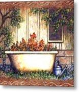 Bathtub Garden Metal Print