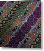 Batik Art Pattern Metal Print