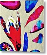 Batik Bouquet Metal Print