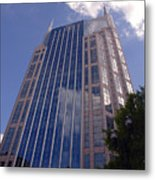 Batman Building In Down Town Nashville Metal Print