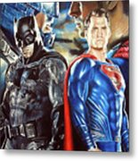Batman V Superman Metal Print