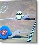 Batman Vs Superman Snail Metal Print