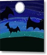 Bats At Night Metal Print