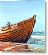 Battered By The Sea Metal Print