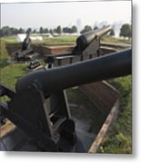 Battery Of Cannons At Fort Mchenry Metal Print