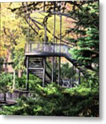 Battery Park Fall Colors  Metal Print
