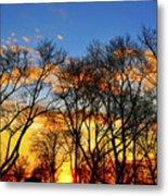 Battery Park Sunset Metal Print