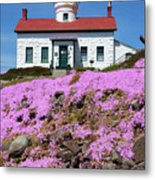 Battery Point Lighthouse In Crescent City Metal Print