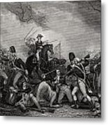 Battle At Princeton New Jersey Usa 1775 Metal Print