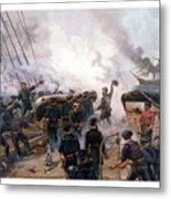 Battle Between Kearsarge And Alabama Metal Print by War Is Hell Store