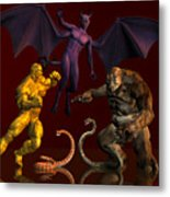 Battle Of Good Vs Evil Metal Print