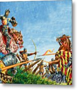 Battle Of Agincourt Metal Print