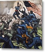 Battle Of Fort Wagner, 1863 Metal Print by Granger