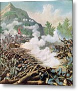 Battle Of Kenesaw Mountain Georgia 27th June 1864 Metal Print by American School