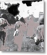 Battle Of Kursk Advancing Soviet Soldiers 1942 Color Added 2016 Metal Print