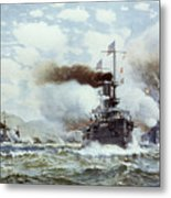Battle Of Manila Bay 1898 Metal Print