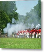 Battle Of Monmouth-redcoats Metal Print