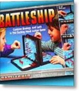 Battleship Board Game Painting  Metal Print