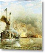 Battleships At War Metal Print