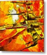 Star Wars X-wing Fighter - Oil Metal Print