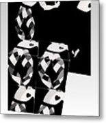Bauhaus Ballet 2 The Cubist Harlequin Metal Print