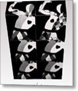 Bauhaus Ballet Six Metal Print