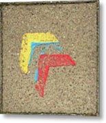 Bauhaus Symbol Paving Stone Metal Print