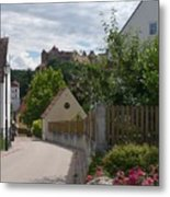 Bavarian Village With Castle  View Metal Print