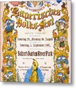 Bavarian Volksfest New York Vintage Poster 1897 Metal Print