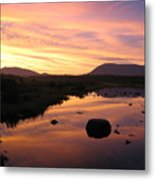 Baxter State Park At Sunset Metal Print