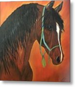Bay Arabian Metal Print