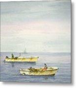 Bay Boats Scalloping Metal Print