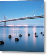 Bay Bridge Blues, San Francisco Metal Print