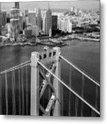 Bay Bridge Tower And San Francisco Skyline Metal Print