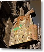 Bay Horse Cafe Sign Metal Print