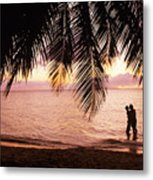 Bay Islands At Sunset Metal Print